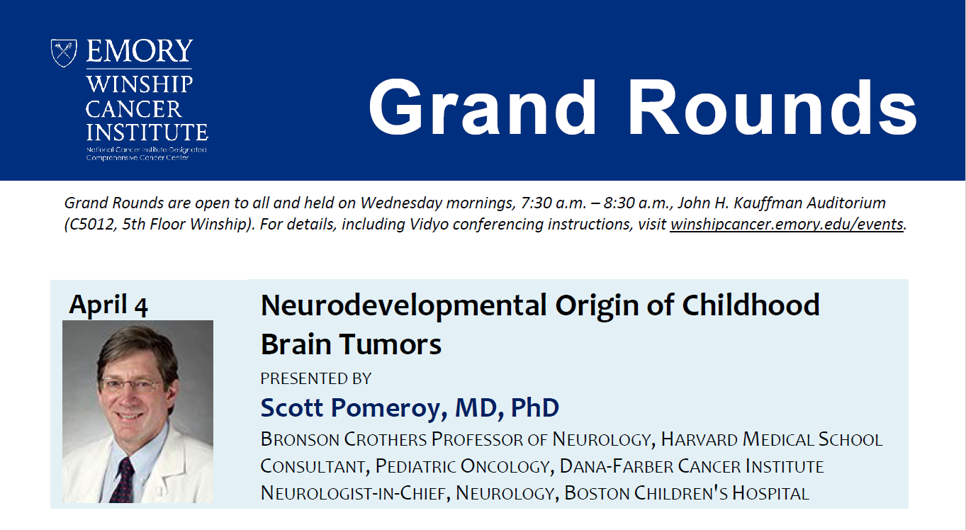 Grand Rounds - Scott Pomeroy, MD, PhD -