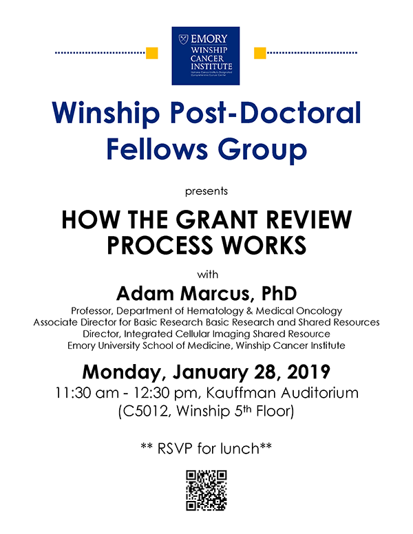 Flyer - Winship Postdoctoral Fellows Group Meeting