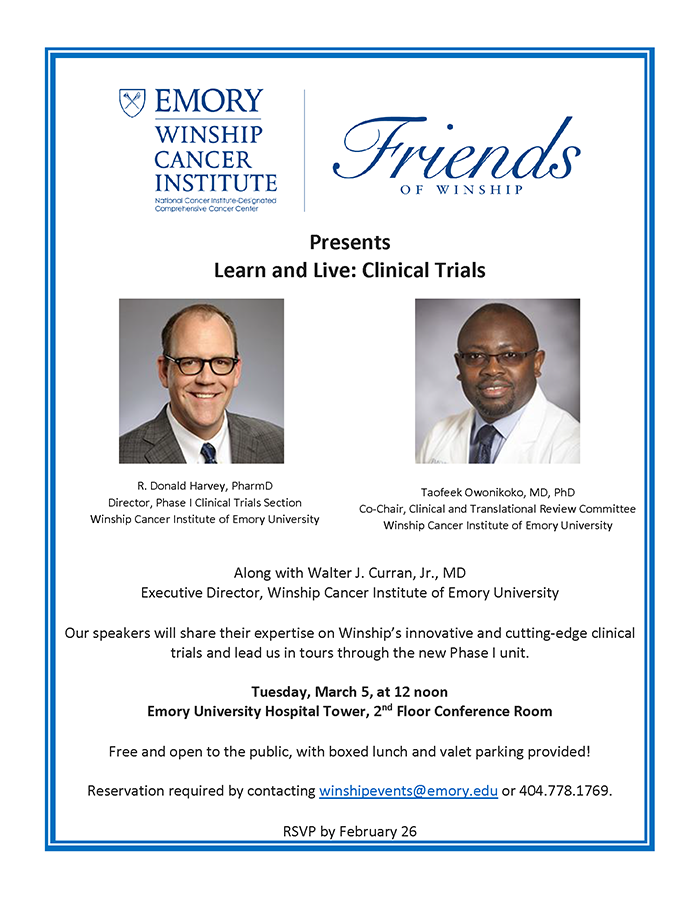 Flyer - Learn and Live: Clinical Trials